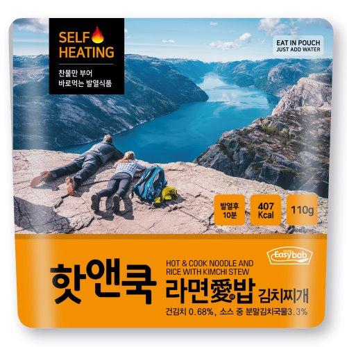 핫앤쿡 발열 김치찌게라면애밥, 1개, 120g