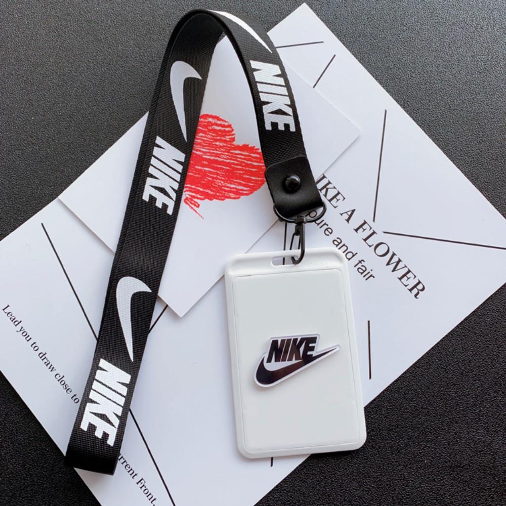 스포츠웨어 프린팅 하드 시즌권케이스 목걸이형 스키장 스노우보드, 긴 끈 흰색 NK