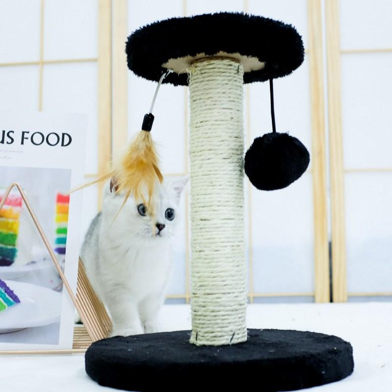 미래물 고양이 기둥잡기 올빼미 캣타워 장난감zzw, 1개, 15*25*25CM