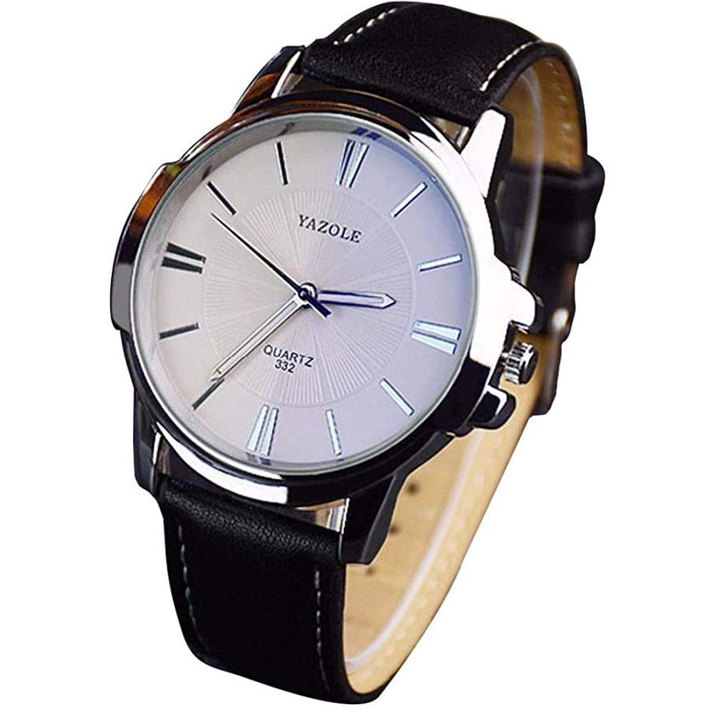 LinTimes 패션 남성 시계 쿼츠 아날로그 시계 사업