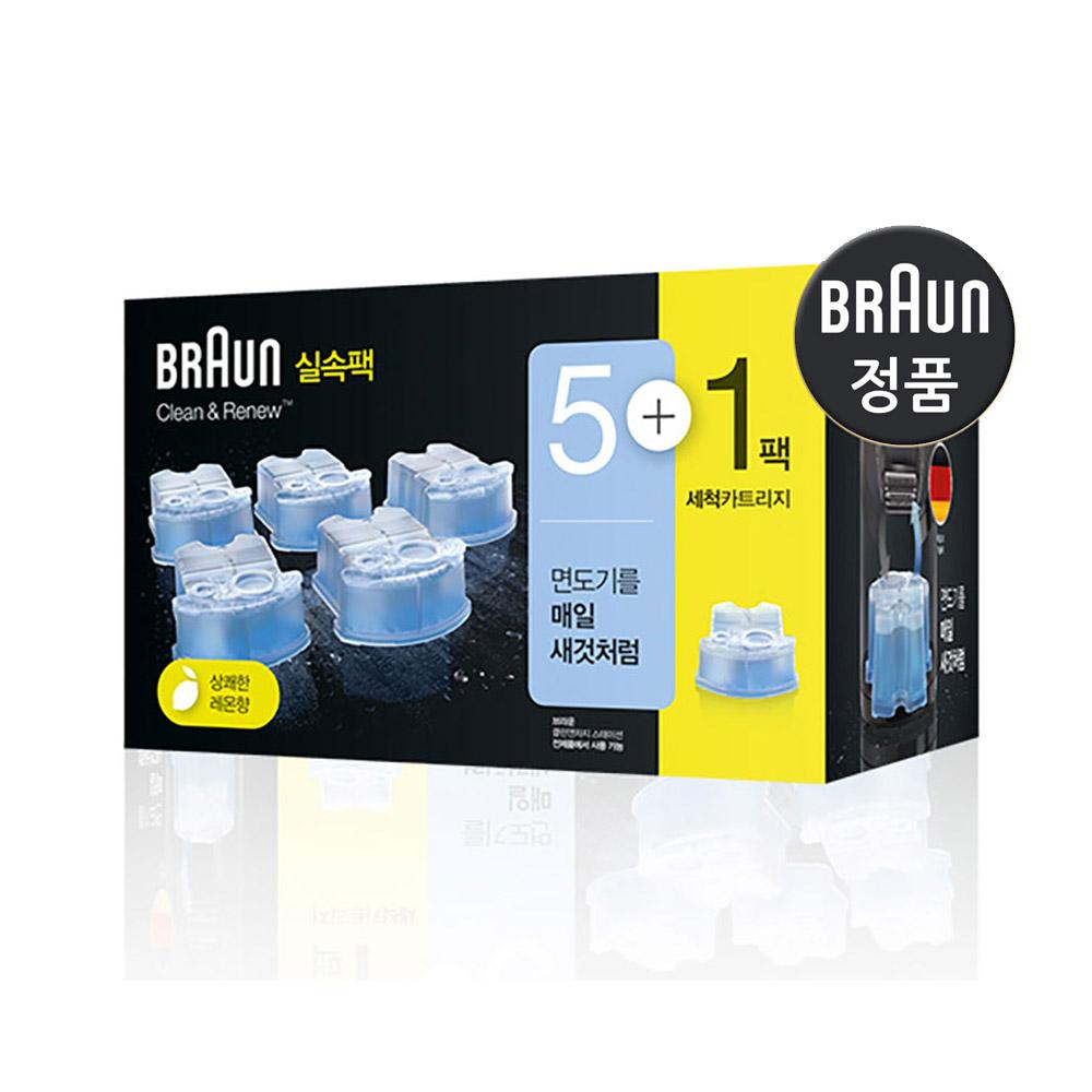 BRAUN 클린 앤 리뉴 면도기 세정액 CCR5+1 6개입