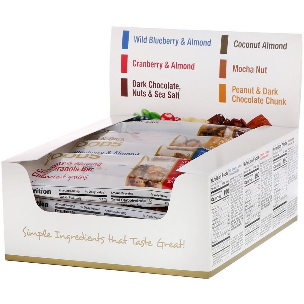 [미국직구]California Gold Nutrition 식품 버라이어티 팩 스낵바(Variety Pack Snack Bars) 바 12 개 바 1 개 당 1.4oz (40g), 선택, 상세설명참조