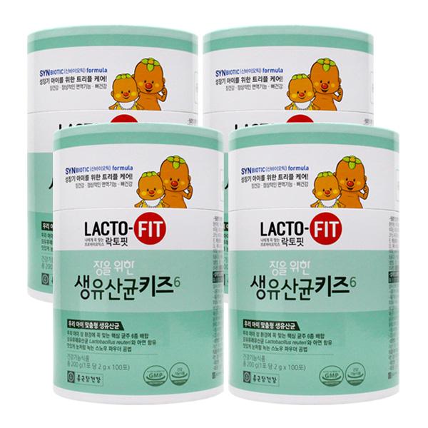 종근당건강 락토핏 장을 위한 생 유산균 키즈 100포X4, 단품, 단품