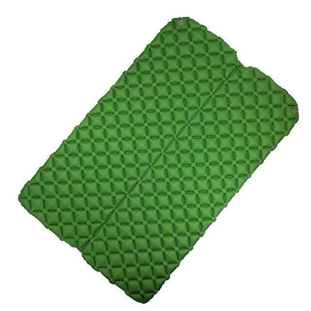 초경량 경량 2 인 습기 방지 에어 매트리스 나일론 tpu 슬리핑 패드 매트리스 용 풍선 매트리스 캠핑 매트, 02 2P green