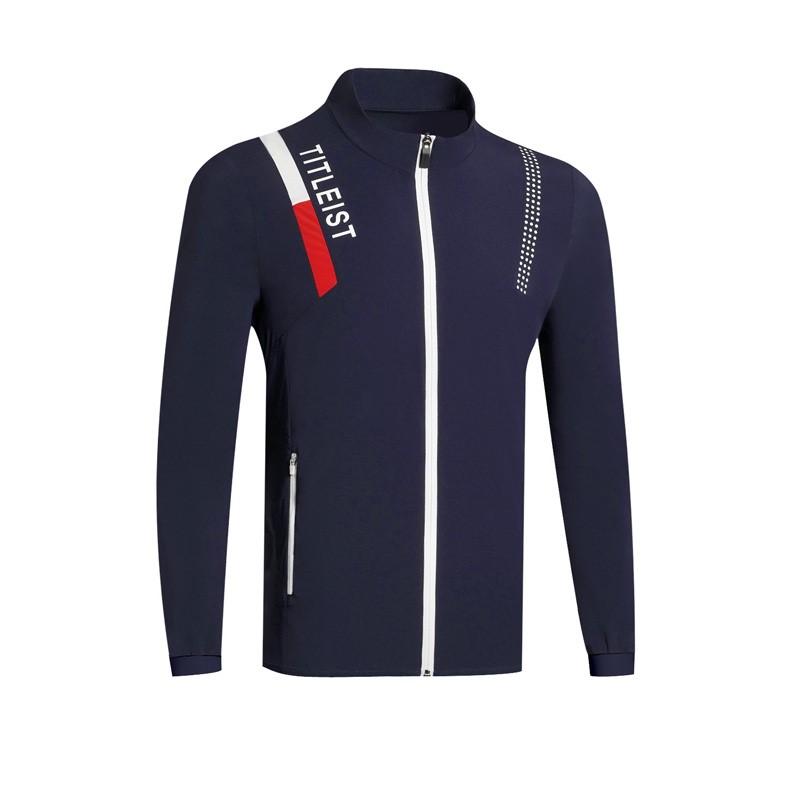 타이틀리스트 남성골프웨어 가을 의류 남성 캐쥬얼 바람막이 집업 자켓, 로얄 블루