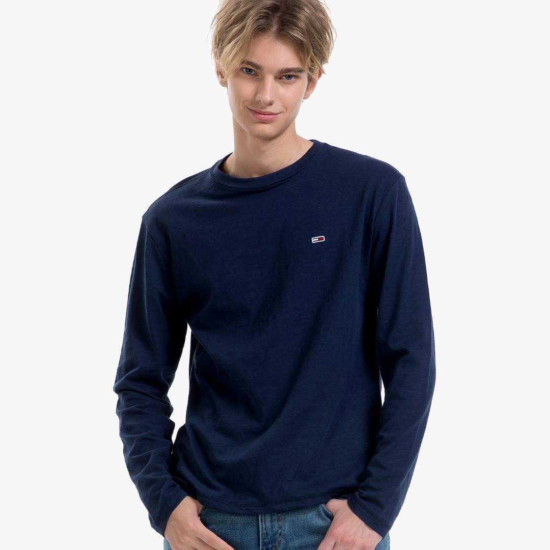 타미힐피거[공식] 코튼 솔리드 긴소매 티셔츠 T32A0TTO001MT5 B70