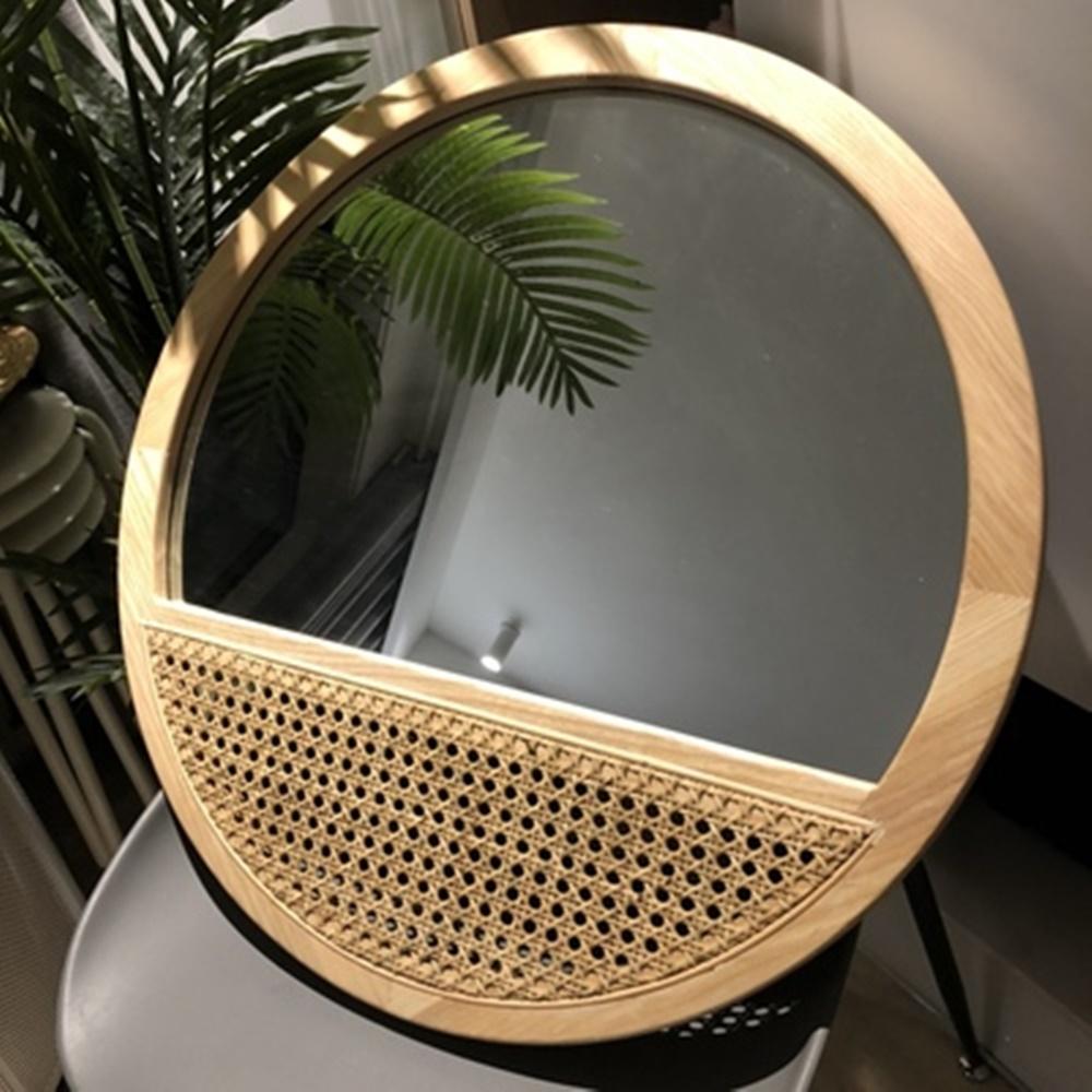 원스펙션 인테리어용 라탄 거울 M L, 라탄 거울(M)