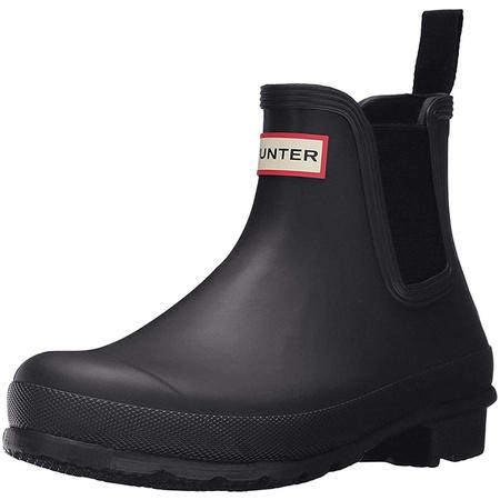 HUNTER (헌터) HUNTER Original Chelsea Rain Boots HWFS1043RMA One Tab green