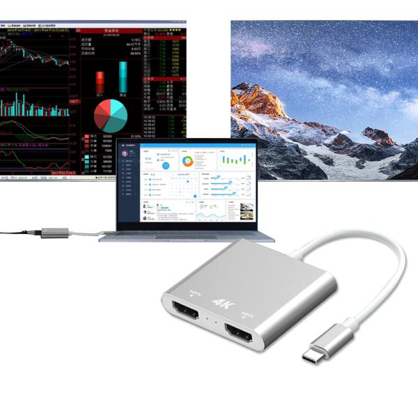 4K C타입 USB to HDMI 컨버터 외장그래픽카드 미러링, 상품선택