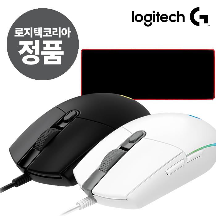 로지텍 Prodigy 유선 게이밍 마우스 G102, 블랙, 로지텍 G102 정품벌크+장패드