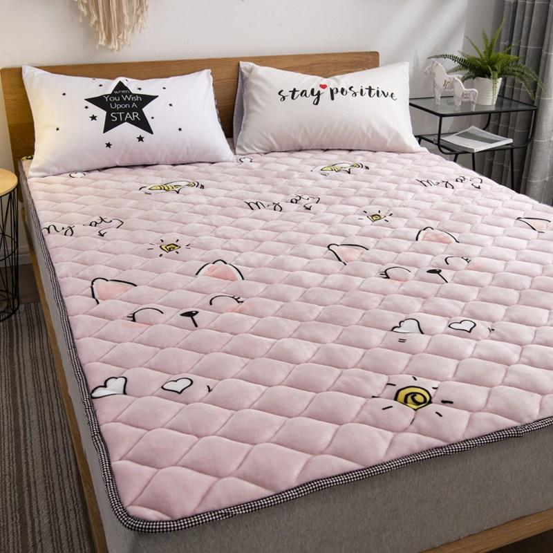 토퍼 템퍼 매트리스 침구 기타 겨울 쿠션 접이식 침대 기모 융털 매트, AK_1.0 x 2.0m