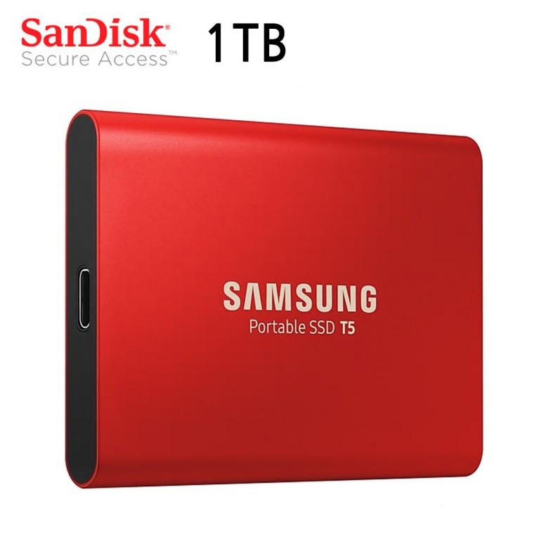 삼성 외장 SSD 포터블 T5 USB 3.1 (1TB) (레드)_156435EA, 상세페이지 참조, 상세페이지 참조 (POP 5736228374)
