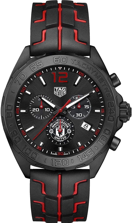 (관부가세별도) TAG Heuer Formula 1 Manchester United 43mm Men's Watch CAZ101J.FT8027-B074NSV2PV