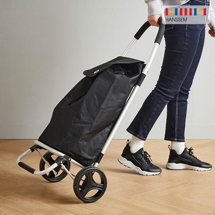 한샘 가벼운 바퀴달린 장바구니 카트 고급형 핸드 운반 접이식 휴대용 이동식 시장 네모핸드 캐리어 남궁민 손수레 쇼핑 마트 다용도 폴딩, 1개