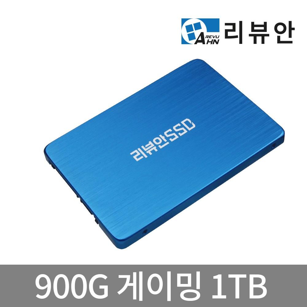 리뷰안 900G 게이밍 DRAM탑재 SATA SSD, 1TB, 용량