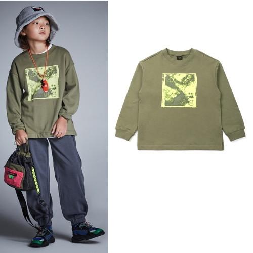 [블루테일]AUG5TS04KK 우주 카키 티셔츠