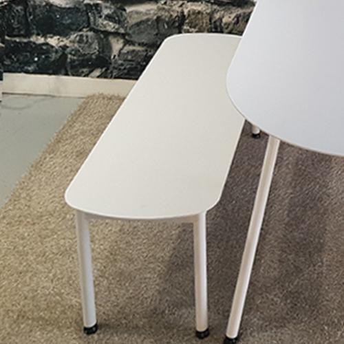 라움 화이트 원형 식탁 타원형 라운드 테이블 2인 4인 6인 8인 벤치 의자, 화이트벤치1100