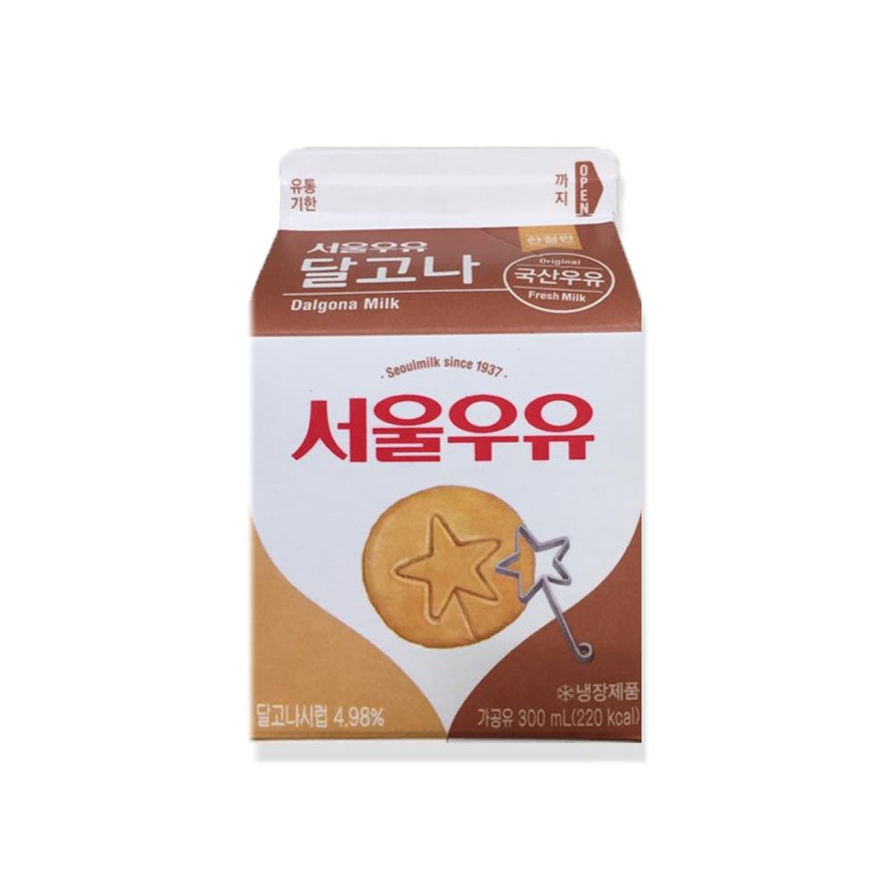 서울우유 달고나우유 300ml 1개 편스토랑 커피빈 달고나커피 라떼 커피우유