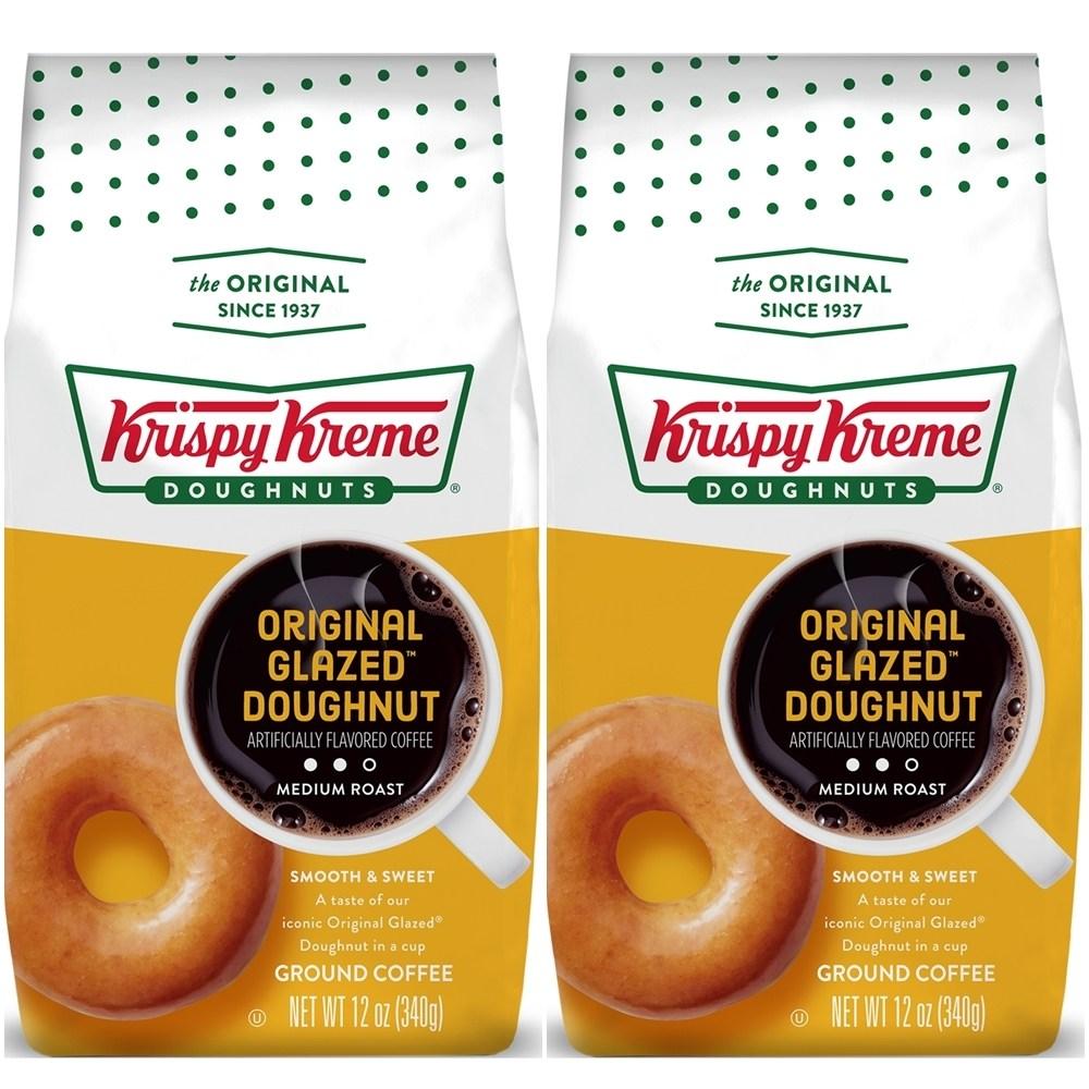 Krispy Kreme Doughnuts Original Glazed Donut GroundCoffee 크리스피 크림 도넛 커피 원두 가루 340g 2팩, 단일상품, 단일상품