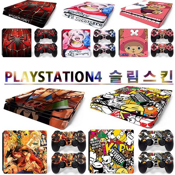 소니 플레이스테이션4 ps4 슬림 전용 스킨, 1세트, 마블 코믹북