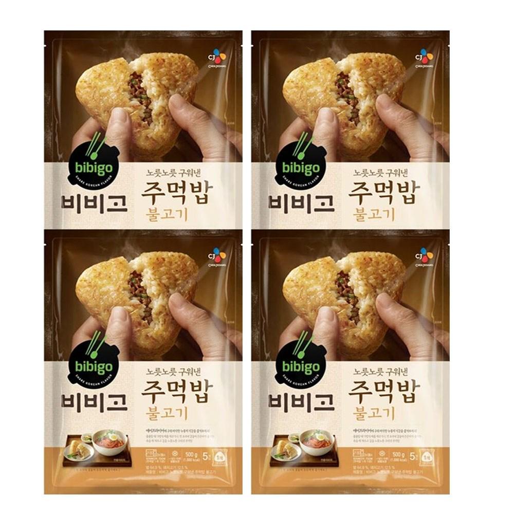 (냉동)비비고 구워낸주먹밥불고기500gx4개, 1세트
