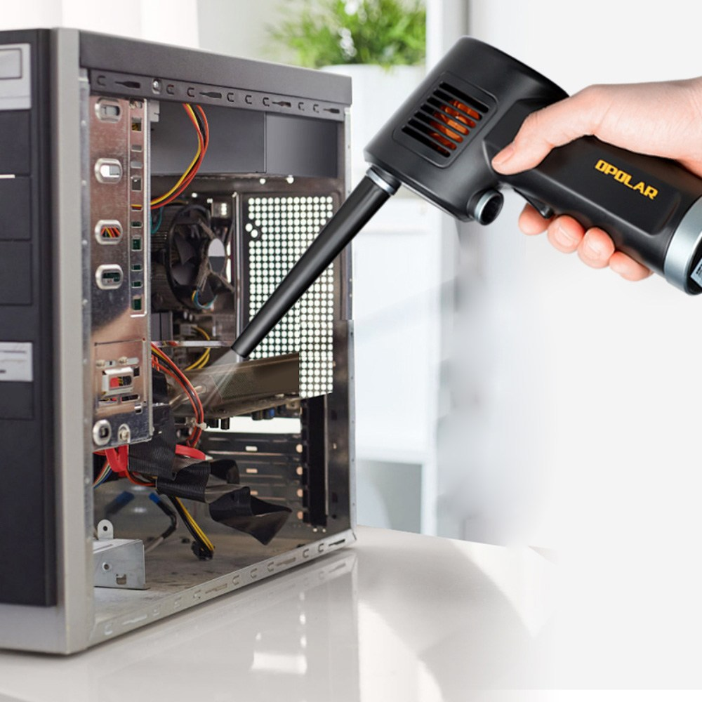 오더봇 강력 먼지 제거 컴퓨터 키보드 에어컨 충전용 청소 에어 스프레이 에어건 클리너 청소기, 1개