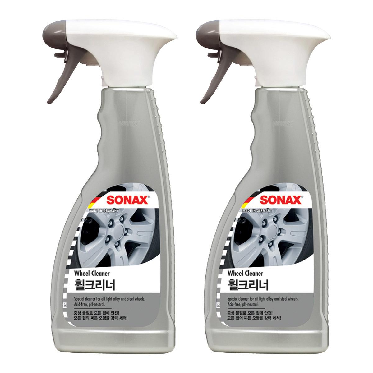 소낙스 휠 세정제 2개 Sonax Wheel Cleaner 2-Piece, 500ml (POP 33871)