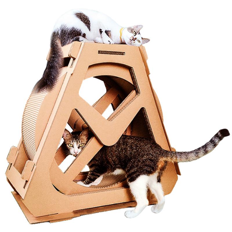 우다다 캣휠 가성비 갑 골판지형 고양이 캣휠, 캣휠 M