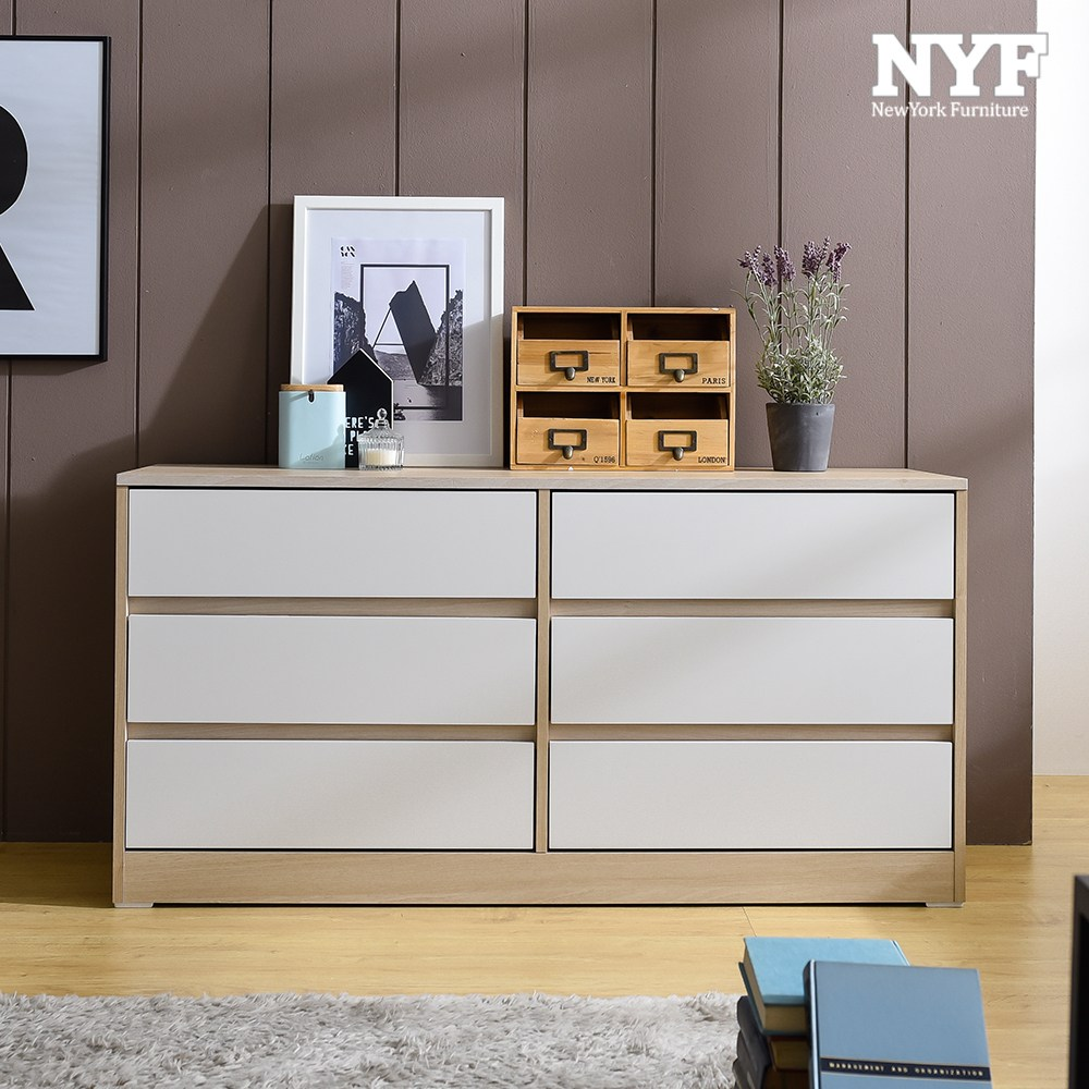 뉴욕퍼니처 쁘띠 서랍장 시리즈, 1200 6단 메이플화이트_NFDV41