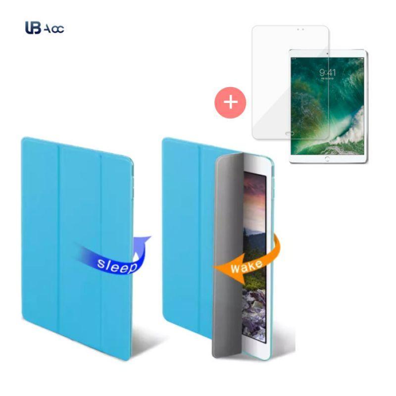 IBC318071UBAcc 아이패드 프로12.9 3세대 스마트 스탠딩 커버 보호필름SET, 레드+필름(랜덤