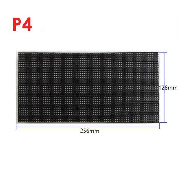 최저 가격 저렴한 RGB LED 매트릭스 모듈 P4 128mm x 256mm 고정형 렌탈 타입 LED 디스플레이 모듈 가격 P, 한개옵션, 01 256mm x 128mm