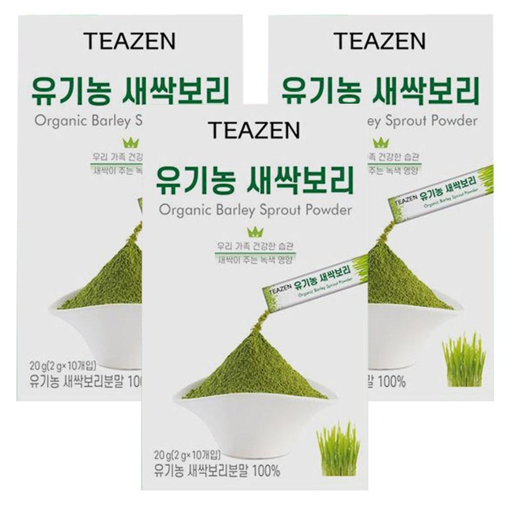 티젠 유기농 새싹 보리 10입 x3개/분말 영양만점, 단일상품, 단일상품