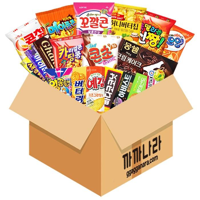 까까나라 과자 간식 랜덤 럭키박스 인기스낵 20p 선물세트, 1box, 20000원 럭키박스(21p)