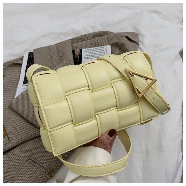 보테가 스타일 크로스 백 마그네틱 버클이 마름모꼴 어깨 대각선 가방