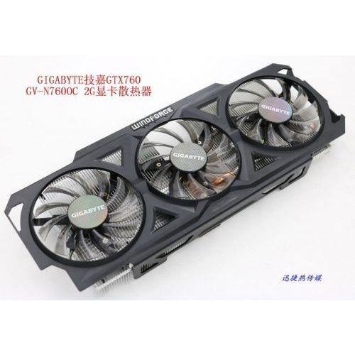 [해외] NEW ORIGINAL 한 바이트 GSMART GTX760 GVN760OC2G 그래픽 CARD COOLER 팬 와 열 SINK, 상세내용표시