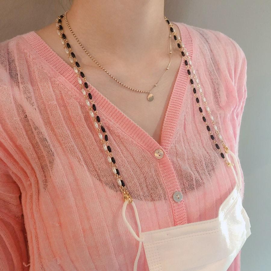 오성상회 골드 체인 비즈마스크스트랩 패션마스크줄 진주마스크목걸이 마스크줄 마스크목걸이