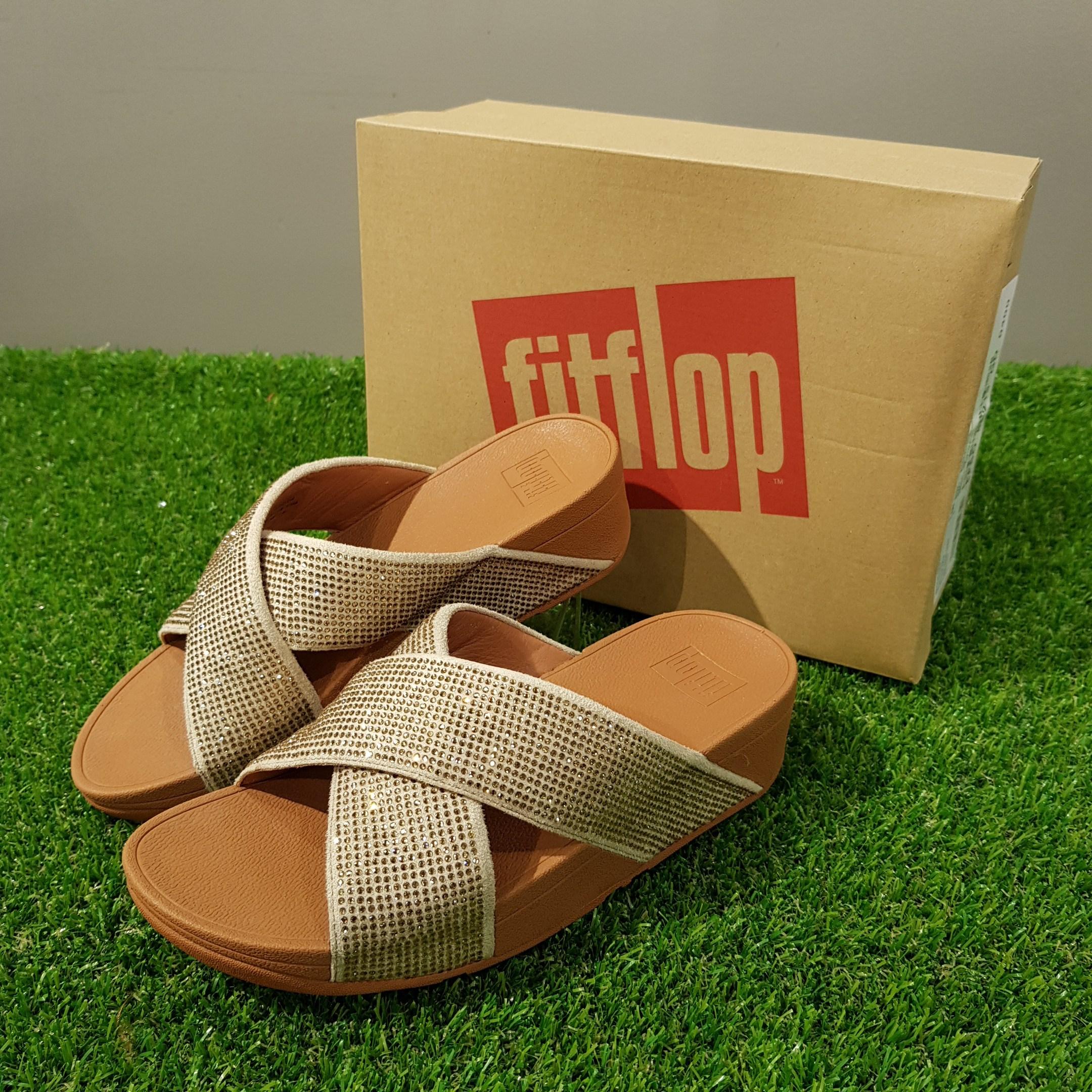 핏플랍 fitflop 여성 샌들 Ritzy Slide Sandals 골드 (L22-562)
