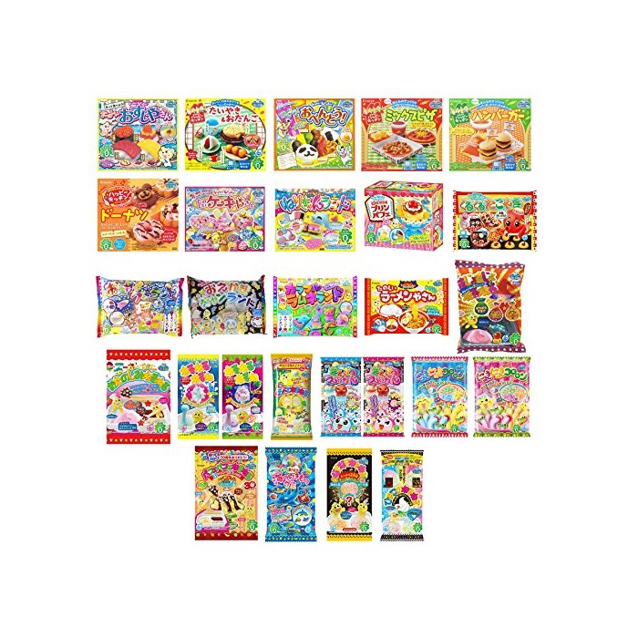 Kracie DIY Candy Gummy Making Kit Poppin Cookin 25 pcs Set 2015 Winter (Decoration cake Hamburger Bento...), One Color, One Size