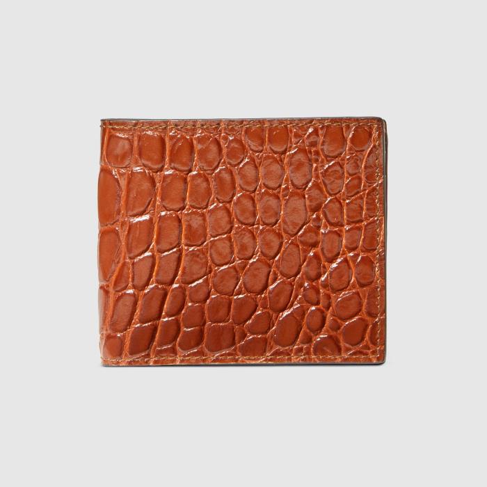 구찌 Crocodile bi-fold wallet 365482 EZIBG 2535-26-5227458216