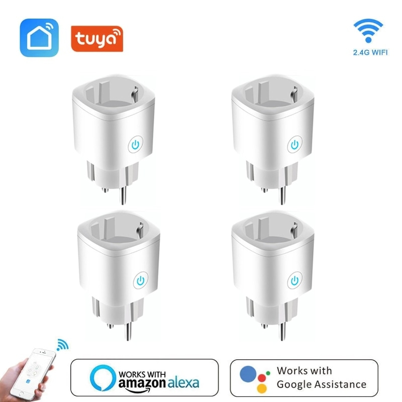 WIFI 스마트 플러그 소켓 16A 전원 모니터 EU 플러그 제어 스마트 타이밍 소켓 무선 콘센트 음성 지능형 제어 Alexa, 협력사, 1 개의 PC (POP 5564085492)