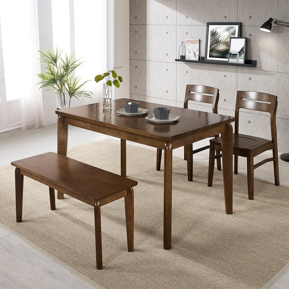 라로퍼니처 사피노 원목 4인용 식탁세트 원목식탁세트 4인식탁, 단품-테이블(1250×800)