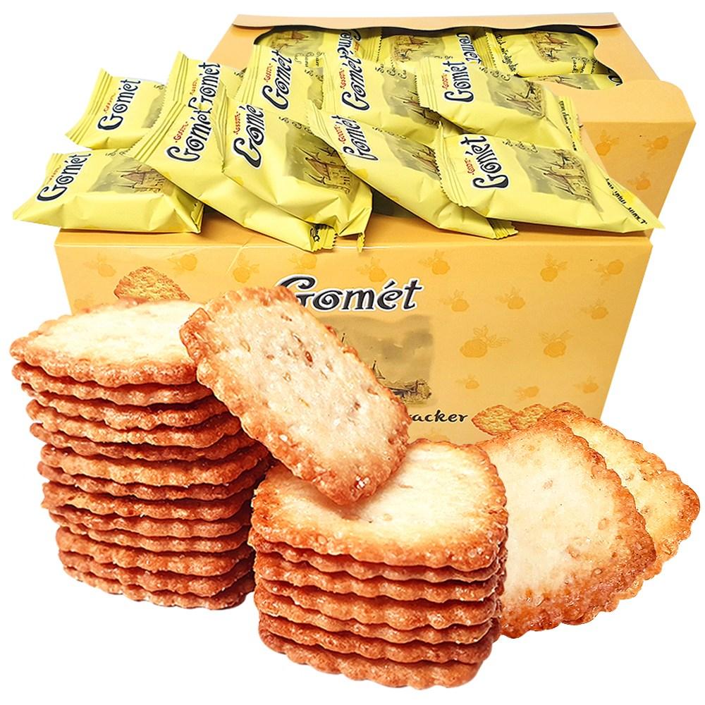 2박스(100봉) 고멧 참깨 코코넛 크래커 과자 간식, 단품