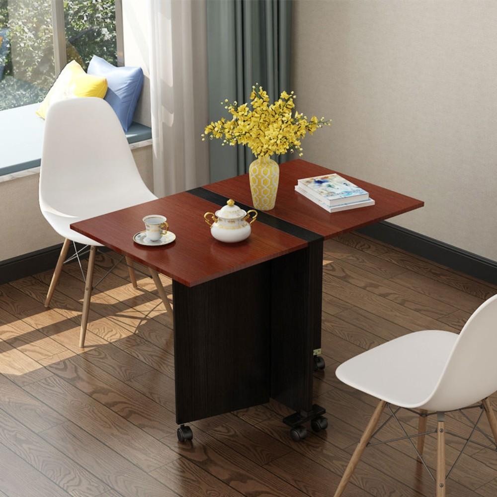 심플한 원룸 이동식 트랜스폼 접이식 식탁 테이블, D