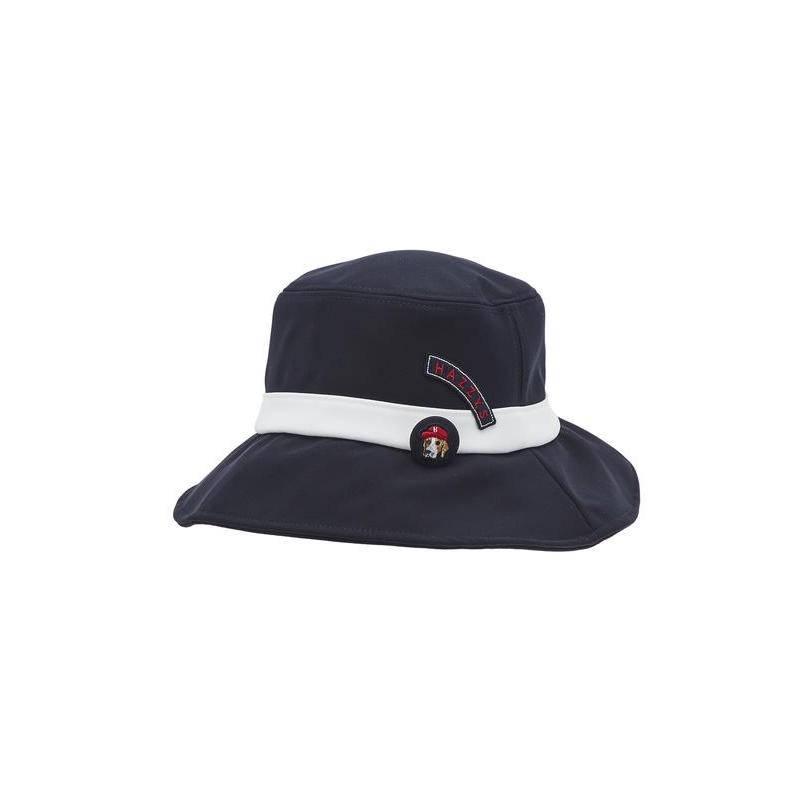 헤지스 골프 여성 20FW [PHIZ] 네이비 피즈 브로치장식 back리본 벙거지 모자 HWHE0F951N3, DARK NAVY