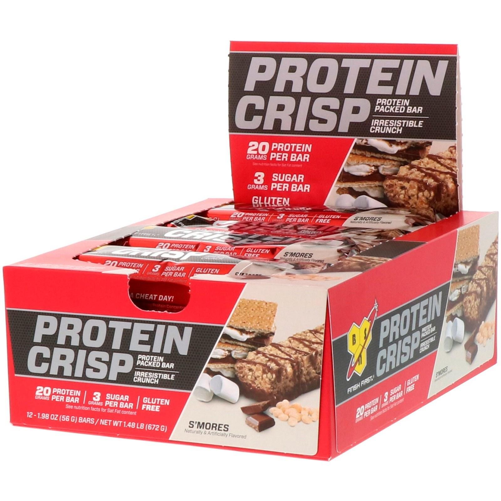 BSN 단백질 크리습 스모레스 맛 12 바 56g 프로틴바, 1개, -