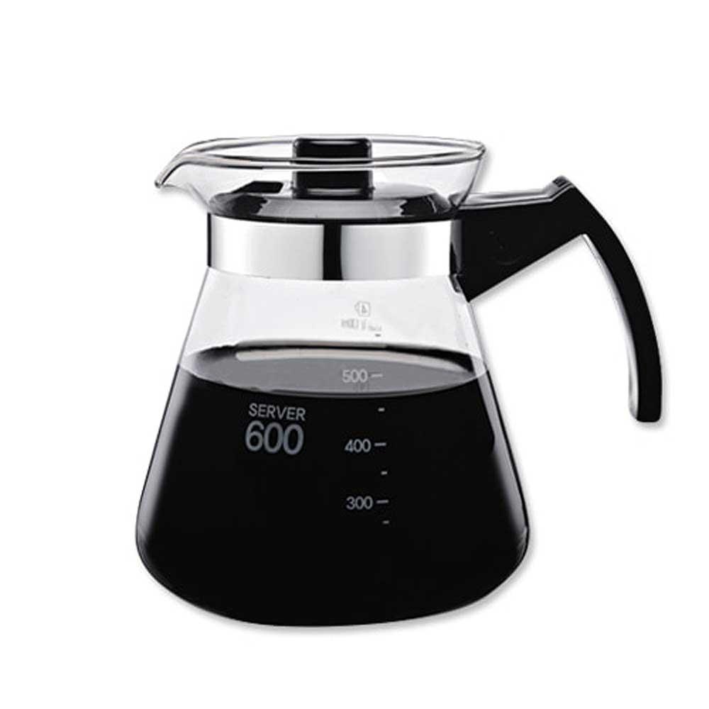 카페 이탈리아 무착색 유리 핸드드립 커피 서버 600ml, 1개, 투명 유리
