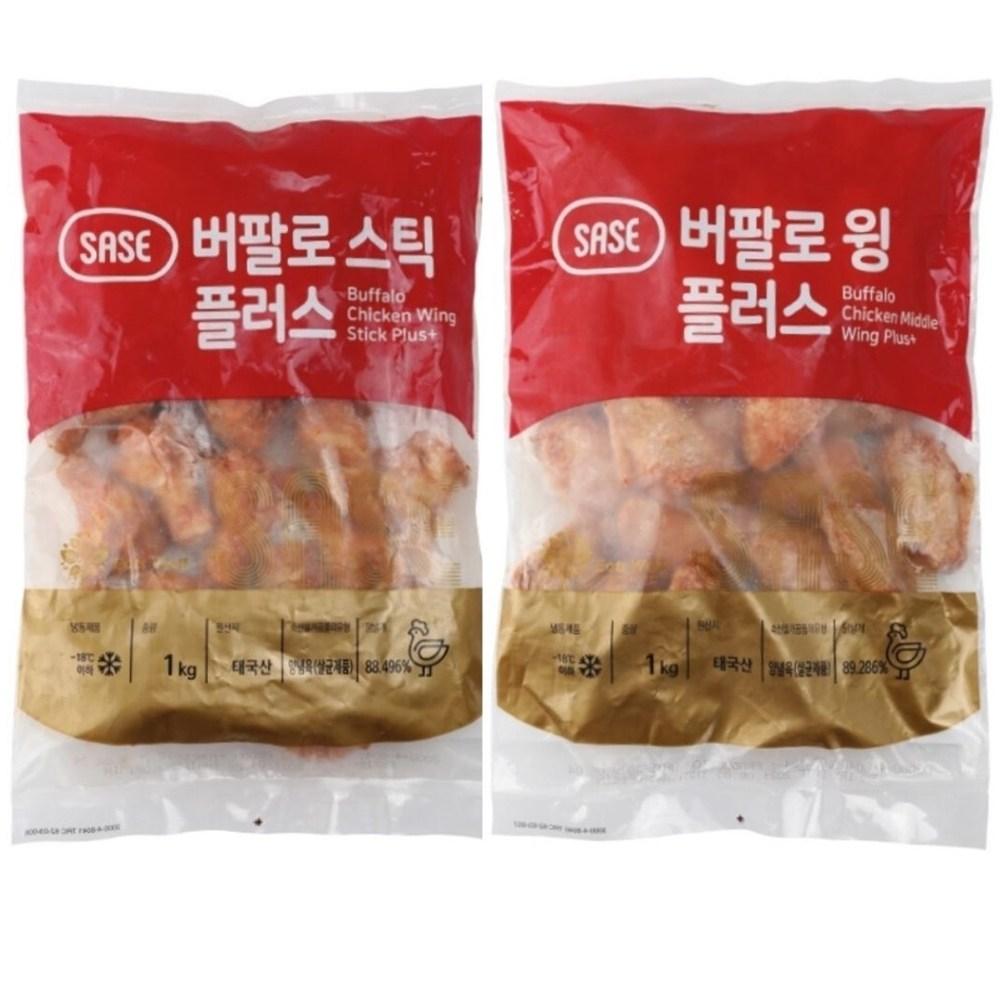 사세 버팔로윙1kg+버팔로스틱(봉)1kg, 1개, 2kg