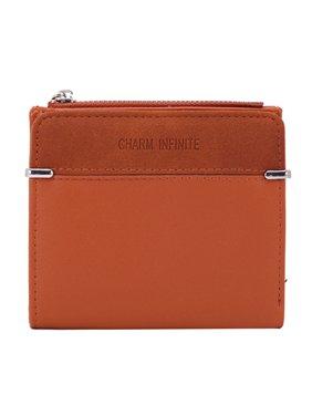 farfi 여성형 얇은 단색 지퍼 폴더블 쇼트 월렛 현금 카드지갑