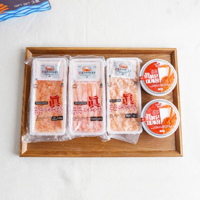 홍게살 선물세트 붉은 대게 장 다리살 혼합살 냉동 속초 국산, 단품