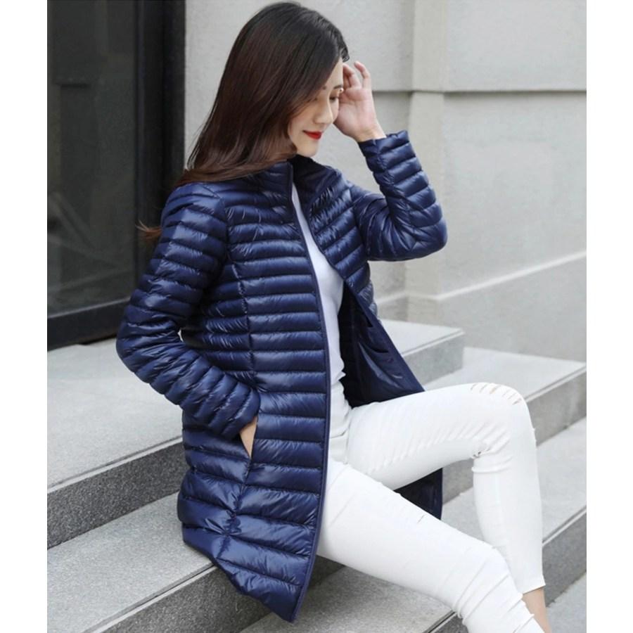 경량다운 애리 하프 오리털 점퍼 패딩 반코트 여성재킷.